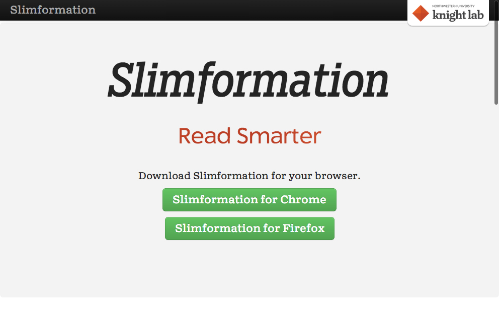 Slimformation is now Firefox-ready, just in time for the