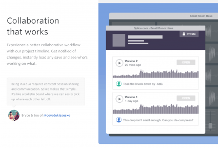 Splice is envisioning a world where communities across the world quickly and easily collaborate to get web audio ready for primetime.